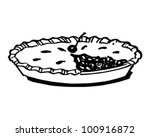 Cherry Pie   Retro Clipart...