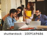 group of casual concept... | Shutterstock . vector #1009169686