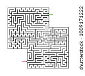 abstract maze labyrinth with...   Shutterstock .eps vector #1009171222