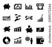economy icons. set of 16... | Shutterstock .eps vector #1009172266