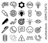 idea icons. set of 25 editable... | Shutterstock .eps vector #1009173472