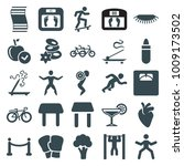 lifestyle icons. set of 25... | Shutterstock .eps vector #1009173502