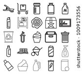 container icons. set of 25... | Shutterstock .eps vector #1009173556