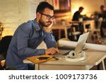 casual startup programmer and... | Shutterstock . vector #1009173736