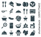 cooking icons. set of 25... | Shutterstock .eps vector #1009175602
