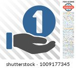one coin payment hand icon with ... | Shutterstock .eps vector #1009177345