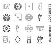 casino icons. set of 16... | Shutterstock .eps vector #1009180576
