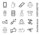 hand icons. set of 16 editable... | Shutterstock .eps vector #1009180735