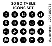 direction icons. set of 20... | Shutterstock .eps vector #1009180786