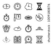 minute icons. set of 16... | Shutterstock .eps vector #1009180876