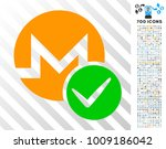valid monero icon with 7...