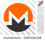 monero currency pictograph with ... | Shutterstock .eps vector #1009186108
