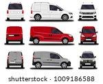 realistic cargo van. front view ... | Shutterstock .eps vector #1009186588
