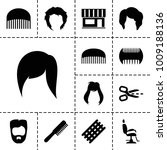 haircut icons. set of 13... | Shutterstock .eps vector #1009188136