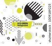 trendy memphis eco style... | Shutterstock .eps vector #1009189225