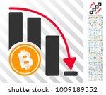 bitcoin falling acceleration... | Shutterstock .eps vector #1009189552