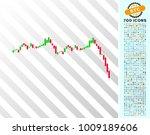 candlestick graph falling... | Shutterstock .eps vector #1009189606
