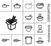 soup icons. set of 13 editable... | Shutterstock .eps vector #1009189756