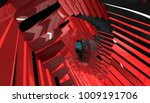abstract background red tunnel. ... | Shutterstock . vector #1009191706