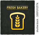 golden bread bakery symbol... | Shutterstock .eps vector #1009192576