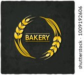 golden bread bakery symbol... | Shutterstock .eps vector #1009192606