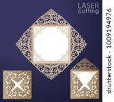 laser cut square envelope with... | Shutterstock .eps vector #1009194976