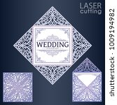 laser cut square envelope with... | Shutterstock .eps vector #1009194982