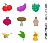 produce icons set. cartoon set... | Shutterstock .eps vector #1009196506