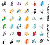 postal equipment icons set.... | Shutterstock .eps vector #1009200472