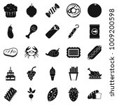 favorite delicacy icons set.... | Shutterstock .eps vector #1009200598