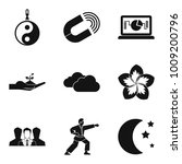 harmony icons set. simple set... | Shutterstock .eps vector #1009200796
