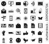 postal icons set. simple set of ... | Shutterstock .eps vector #1009203736