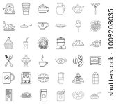 fodder icons set. outline set... | Shutterstock .eps vector #1009208035