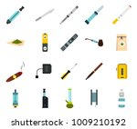 smoking icon set. flat set of... | Shutterstock .eps vector #1009210192