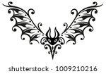 flying bat. filigree tribal and ...   Shutterstock .eps vector #1009210216