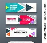banner design vector abstract... | Shutterstock .eps vector #1009212286
