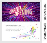 grand opening vector... | Shutterstock .eps vector #1009221682