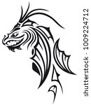 abstract fire dragon head with...   Shutterstock .eps vector #1009224712