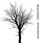 Dead Tree Silhouette. Vector...