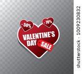 valentines day heart shape sale ...   Shutterstock .eps vector #1009230832