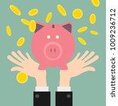 gold coins piggy bank.   Shutterstock .eps vector #1009236712