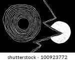 vector illustration of artistic ... | Shutterstock .eps vector #100923772
