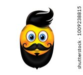 cute hipster emoticon with... | Shutterstock .eps vector #1009238815