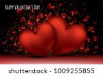 red love romantic hearts.... | Shutterstock .eps vector #1009255855