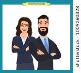 businesswoman and businessman... | Shutterstock .eps vector #1009260328