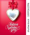 valentine s day card with...   Shutterstock .eps vector #1009261396