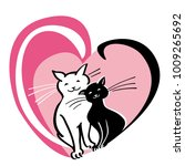 vector card with valentine s... | Shutterstock .eps vector #1009265692