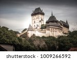view of karlstein castle  a... | Shutterstock . vector #1009266592
