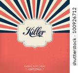vintage design template | Shutterstock .eps vector #100926712