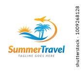 summer travel logo icon vector... | Shutterstock .eps vector #1009268128